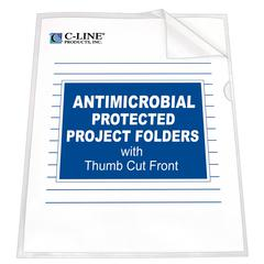 Project Folder with Antimicrobial Protection, Reduced Glare, 11 X 8 1/2, 25/BX (Set of 2 BX)