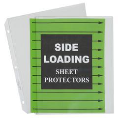 C-Line Side Loading Polypropylene Sheet Protector, Clear, 11 x 8 1/2, 50/BX (Set of 2 BX)