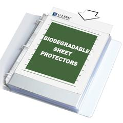 C-Line Biodegradable Sheet Protector, Clear, Polypropylene, 11 x 8 1/2, 50/BX (Set of 2 BX)