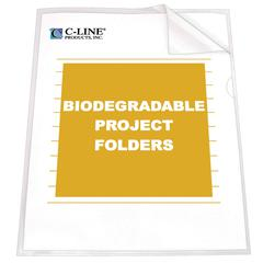 C-Line Biodegradable Project Folders, Reduced Glare, 11 x 8 1/2, 25/BX (Set of 2 BX)