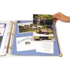 C-Line Memory Book Scrapbook Flip Pocket, Clear, 6/PK (Set of 3 PK)