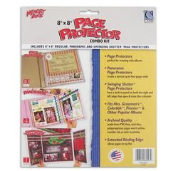 Memory Book 8 x 8 Scrapbook Page Protector Combo Kit, 15/PK (Set of 2 PK)