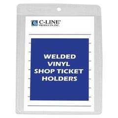Vinyl Shop Ticket Holder, Both Sides Clear, 4 x 6, 50/BX