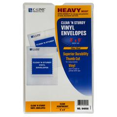 C-Line Clear 'N Sturdy Vinyl Envelopes, 5 x 8, 1/EA (Set of 50 EA)