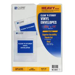 Clear 'N Sturdy Vinyl Envelopes, 8-1/2 x 11, 1/EA (Set of 50 EA)