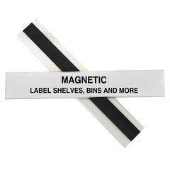 HOL-DEX Magnetic Shelf/Bin Label Holders, 1 Inch Magnetic Label Holder, 10/BX (Set of 2 BX)