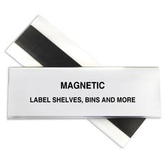 HOL-DEX Magnetic Shelf/Bin Label Holders, 2 Inch Magnetic Label Holder, 10/BX (Set of 2 BX)