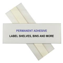C-Line HOL-DEX Permanent Peel & Stick Shelf/Bin Label Holders, 2  Inch Permanent Adhesive Label Holder, 12/BX (Set of 2 BX)