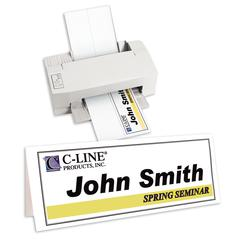 Inkjet/Laser Cardstock Name Tents, Scored, White, Large, 50/BX (Set of 2 BX)