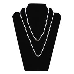 C-Line Neck Chains, 38 Inch White Plastic w/4mm Bead, 50/PK