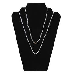 C-Line Neck Chains, 38 Inch Clear Plastic w/4mm Bead, 50/PK