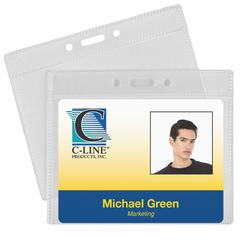 ID Badge Holders, Horizontal, 4 x 3, 50/PK (Set of 2 PK)