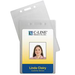 ID Badge Holders, Vertical, 2 1/2 x 3 1/2, 12/PK (Set of 5 PK)