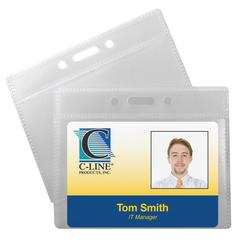 ID Badge Holders, Horizontal, 3 1/2 x 2 1/4, 12/PK (Set of 5 PK)