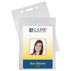 Proximity Badge Holders, Vertical, 50/PK (Set of 2 PK)