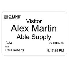 C-Line Badges for Direct Thermal Printers, Peel & Stick Name Badge for Dymo, Zebra, Seiko Direct Thermal Printer, 400/BX