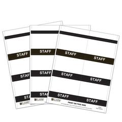 Inkjet/Laser Printer STAFF Name Badge Inserts, 4 x 3 on 8 1/2 x 11 Sheet, 240/BX