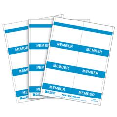 C-Line Inkjet/Laser Printer MEMBER Name Badge Inserts, 4 x 3 on 8 1/2 x 11 Sheet, 240/BX