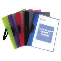 Clip 'N Go Report Cover, 1 Cover (Color May Vary) (Set of 12 EA)
