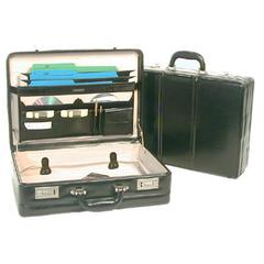 "Bond Street Large Leather 5""-6"" Expander Attache"