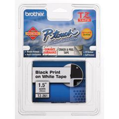 BROTHER INTL. CORP. TZ Standard Adhesive Laminated Labeling Tape, 1-1/2w, Black on White