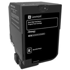 Lexmark CS720 CS725 High Yield Black Return Program Toner Cartridge for US Government (20000 Yield) (TAA Compliant Version of 74C1HK0)