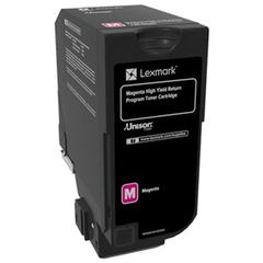 Lexmark CS720 CS725 High Yield Magenta Return Program Toner Cartridge for US Government (12000 Yield) (TAA Compliant Version of 74C1HM0)