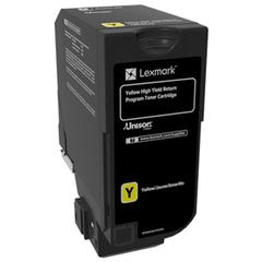 Lexmark CS720 CS725 High Yield Yellow Return Program Toner Cartridge for US Government (12000 Yield) (TAA Compliant Version of 74C1HY0)
