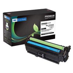 Compatible LJ CM3530  CP3525 Extended Yield Cyan Toner (OEM# CE251A) (11 000 Yield) (Contains Chip)