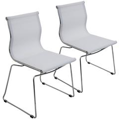 Mirage Stackable Dining Chair White, Set of 2