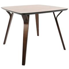 Folia Mid-Century Modern Dining Table in Walnut by LumiSource
