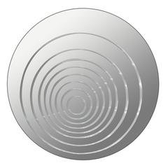 Ripples Mirror Round, Mirrored