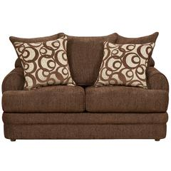 Exceptional Designs by Flash Caliber Walnut Chenille Loveseat