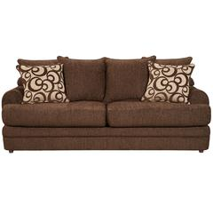 Exceptional Designs by Flash Caliber Walnut Chenille Sofa