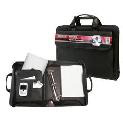 "Ballistic Nylon Electronic Device Carrier/Business Organizer with Removable 1.5"" Binder Portfolio"