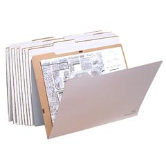 "VFolder25, Vertical Flat Folder,  Stores Flat Items Up to 18""x24"", 10/PK"