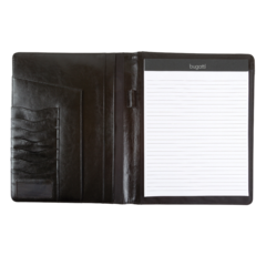 Bugatti Writing case, 1/2 x 12-1/2 x 10, Black