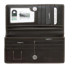 Wallet, 3/4 x 3-1/2 x 7-1/4, Brown