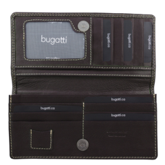 Bugatti Wallet, 3/4 x 3 x 7-1/4, Brown