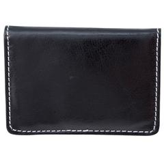 Business card case, 1/4 x 2-1/2 x 4, Black