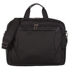 Bugatti Executive briefcase, 3 x 13-3/4 x 16-1/2, Black