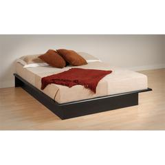 Prepac Black Queen Platform Bed