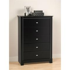 Black Kallisto 5 Drawer Chest