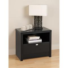 Black Series 9 Designer - 1 Drawer Nightstand