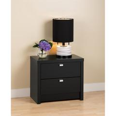 Prepac Black Series 9 Designer - 2 Drawer Nightstand
