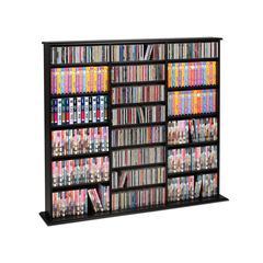 Prepac Black Triple Width Wall Storage