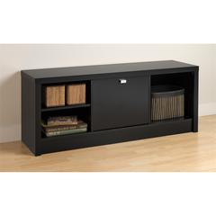 Prepac Black Series 9 Designer Cubbie Bench with Door