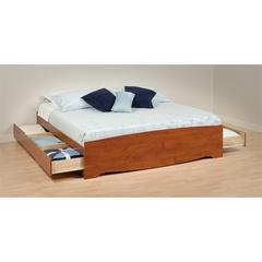 Prepac Cherry King Mate's Platform Storage Bed with 6 Drawers