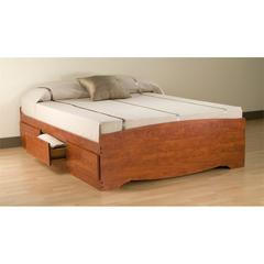 Prepac Cherry Queen Mate's Platform Storage Bed with 6 Drawers
