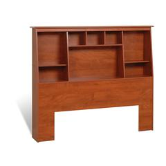 Cherry Full/Queen Tall Slant-Back Bookcase Headboard